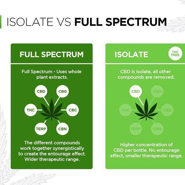 Isolate VS Full Spectrum diagram