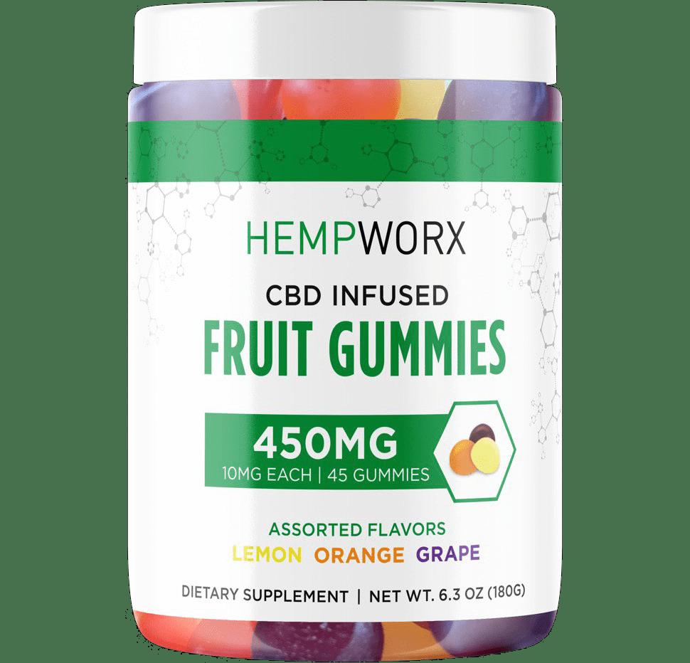 Hempworx CBD Infused 450MG fruit gummies